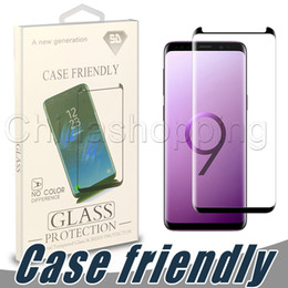 3d surface online shopping - Case Friendly D Curved Screen Protector Flim Full Surface Tempered Glass Cover For Samsung S9 S8 Plus S7 Edge with Retail Package