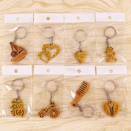 $enCountryForm.capitalKeyWord NZ - Imitation Peach Wood Online Store Gift key Pendant Key Ring Imitation Wooden Accessories Manufacturers Direct Sale of Low-price G1001