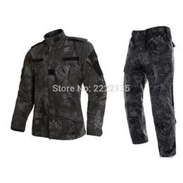 Discount tactical camo uniforms - Tactical US RU Army Camouflage Combat Uniform Men BDU Multicam Camo Uniform Clothing Set Outdoor Jacket + Pants