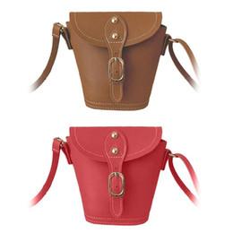 2018 New Designers Mini Cute Bag Children Kids PU Handbag Baby Girls  Shoulder Bag Messenger Bags Bucket Purses Long Strap Gift ce56e9529930f