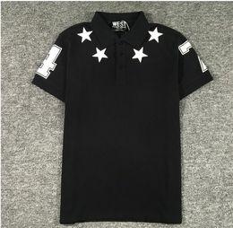 $enCountryForm.capitalKeyWord NZ - High New Novelty 2017 Men High Embroidery 7 4 star Fashion Polo Shirts Shirt Hip Hop Skateboard Cotton Polos Top Tee S-2XL #B84