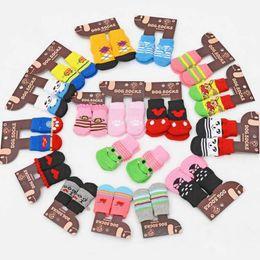 $enCountryForm.capitalKeyWord NZ - Hot pet dog cat warm socks for winter Cute Puppy Dogs Soft Cotton Anti-slip Knit Weave Sock Dog cat Socks Clothes 4pcs lot