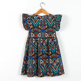 Vintage Clothing For Baby Girls UK - Kids Dress Baby Girl Dress 2018 Hot Sale Summer Cotton Dresses for Kids Clothing Baby Girl Clothes Children Vintage Flower Beach Dress