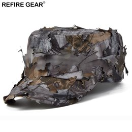 camouflage paintball 2019 - New Outdoor Conceal Camouflage Flat Cap Men Jungle Bionic Camo Hiking Camping Cap Quick Dry Paintball Fishing Snapback H