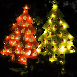 $enCountryForm.capitalKeyWord NZ - Creative LED Christmas Light Felt Calendar Pendant Clip Green String Calendar Christmas Calendar Glowing Decoration H837