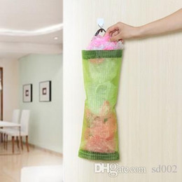 Wall Plastic Bag Holder 2018   Green Multi Function Household Kitchen  Articles Storage Bags Plastic Bag