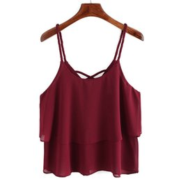 86500af960536 New arrival Women tank top Casual Chiffon Sleeveless Crop Top hot girl Vest Tank  Cami Top super quality Colete Feminino