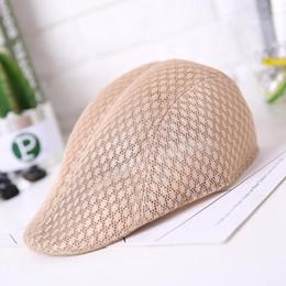 140e45d388c wholesale New Summer Men Women Casual Beret Hat Ivy Flat Cap Cabbie Newsboy  Style Gatsby Hat Breathable Boina Mesh Caps