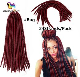 Discount styles for braided hair - Star Style Soft Dreadlocks twist Hair Extensions Crochet Braids 18inch 24roots Synthetic faux locs Braiding Hair for Afr