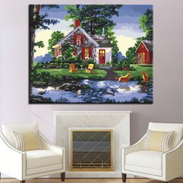 Unique Sheets Canada - Unique Rural Scenery DIY Painting By Numbers Home Decor Living Room Coloring Canvas Oil Pictures Kits Drawing Abstract Wall Art