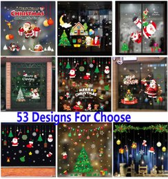 christmas self adhesive stickers decorations clearance pvc merry christmas ornament home window wall stickers shopping mall glass hh7 1872