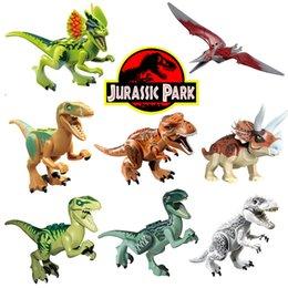 Dinossauro Jurássico Tijolos Figura Animal Selvagem Mundo T-Rex Eco Pterosauria Triceratop Indomirus Rex Brinquedo Do Bloco de Construção para Meninos venda por atacado