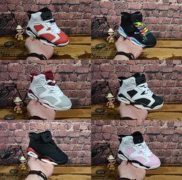 51ebf05016b4 New Discount Kids 6 baby Basketball Shoes unc gold black red kid 6s Boys  Sneakers Children Sports low trainers size 28-35