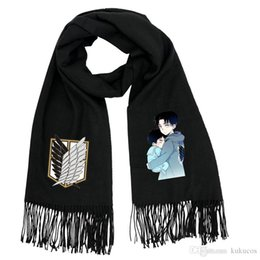 giants accessories Canada - Kukucos Attack On Titan Giant Soldier Mikado Students Warm Winter Scarves Cosplay Gift For Fans