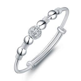 30370ca8c Charms Women bracelet Jewelry Fashion 925 Silver bead ball bracelets &  bangles high quality Mix 3 Style