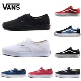 167f41785 Vans shoes Skool viejo Marca Original de marca casual zapatos negro azul  rojo clásico para hombre mujer lienzo zapatillas moda Cool Skateboarding  casual ...