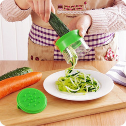 Spaghetti Cutter NZ - Vegetable Fruit Spiral Slicer Carrot Cucumber Grater Spiral Blade Cutter Salad Tools Zucchini Pasta Noodle Spaghetti Maker