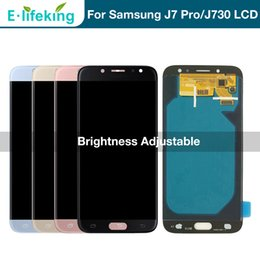 touch screen lcd 2018 - 100% Tested For Samsung Galaxy J7 Pro 2017 J730 J730F LCD Display Touch Screen Digitizer Assembly Replacement Parts Brig