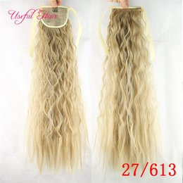 $enCountryForm.capitalKeyWord NZ - wholesale Hair Pony Tail Hairpieces Drawstring Ponytails comb ponytail curly blonde hair extension clip in hair extensions for black women