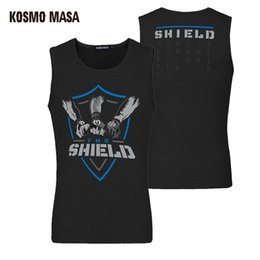 "Kosmo Masa 2017 Wrestling Roman Reigns The Shield ""Shield United"" Men 's Tank Top Cena Dean Ambrose Tee Hip Hop Tank Tops Ropa de gimnasia"