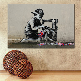 banksy spray art 2019 - Banksy Hiphop Boy Graffiti Street Art Canvas Print Wall Pictures For Living Room Canvas Art Home Decor Modern No Frame d