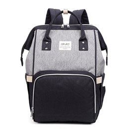 $enCountryForm.capitalKeyWord UK - Multifunctional Diaper Bag For Mother Baby Nappy Outdoor Travel Backpack Large Capacity Patchwork Color Mummy Bags MBG0015