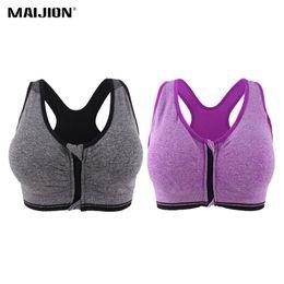 8db88ce409d MAIJION 2PCS Women Push Up Fitness Yoga Bras XXXL Size