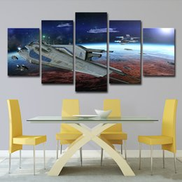 canvas prints for kids room Australia - Wall Canvas Art Print Painting Poster Wall Modular Picture 5 Pcs Star Wars The Spacecraft For Home Decoration Painting Kids Room