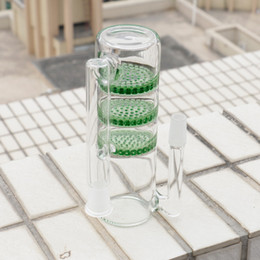 Honeycomb Ash Catcher Percolator Water Pipes Australia - Double honeycombs ash catcher percolator 14mm or 18mm use for water pipe two color glass smoking bong