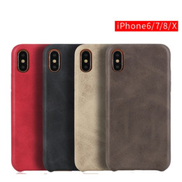 Hot Sales Iphone Case Australia - hot sale cell phone case ultra thin back cover Anti-slip wear-resistant plain vintage PU leather case for iphone X 7 8 plus