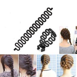 Discount hair braiding styling - raiding machine 3pcs Women Braiding Machine Braider Tool Elastic Ring Weave Braid Hair Styling Tools DIY Hair Style Hair