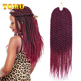$enCountryForm.capitalKeyWord NZ - TOMO Ombre Burgundy Brown Senegalese Twist Low Temperature Fiber Crochet Braids Synthetic Hair Extensions For African American 12Roots pack