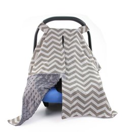 Cotton Cart NZ - Hot Cotton Baby Car Canopy Nursing Cover Breastfeeding Shopping Cart Cover High Chair Infant Children Car Seat