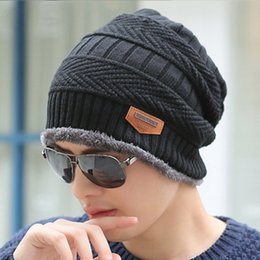 $enCountryForm.capitalKeyWord Australia - Beanie Men Women Winter Hats Add Wool Fur Ball Cap Winter Outdoor Hat For Male Female Knitted Warm Beanies Cap Accessories Christmas Gift