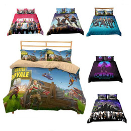 Chinese  Game Fortnite Duvet Cover Twin FUll Queen King Size Quilt Covers Bedding Blanket Cartoon Printed with Couple Pillow Cases Cover 3PCS SET manufacturers