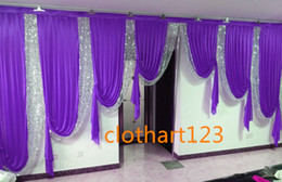 draping for wedding backdrop 2021 - 3M high*6m wide swags for backdrop designs wedding stylist Party Curtain drapes Stage backdrop
