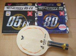 Lames de tennis de table ZLC Raquette de tennis de table raquette de ping-pong manche long 64/05-FX / 05/80 caoutchouc de tennis de table pour raquette