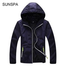 $enCountryForm.capitalKeyWord Australia - SUNSPA 4XL Plus Size Quick Dry Men Windbreaker Skin Coat Sunscreen Waterproof UV Mens Army Outwear Ultralight Windbreake Jacket