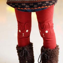 Girls Rabbit Leggings Australia - New Cute Toddler Rabbit Girls Child Pants Bottoms Kids Baby Fleece Leggings Trousers