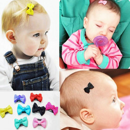 Hair clips for infants online shopping - 2018 NEW Sewing Solid Dot Infant Baby Ribbon Bow Hair Clip Boutique Hairpins For Children Girls Kids Hair Accessories