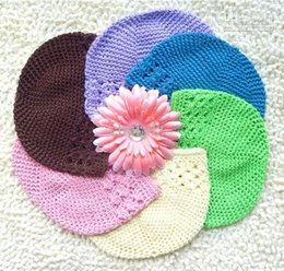 free crochet baby beanie NZ - Baby Kufi Hats Crochet Toddler Beanie Girls Boys Cotton Hat Big Size Kufi Caps Good Gifts BB30