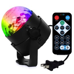 magic ball disco NZ - 2 X Mini 6W DJ Light RGB Color Changing Sound Actived Crystal Magic Disco Ball Led Stage Lights for KTV Xmas Wedding Party Light