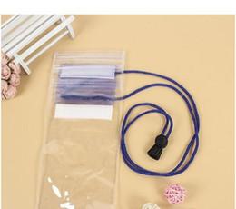 PVC transparente teléfono a prueba de agua teléfono celular con pantalla de casetouch bolsa impermeable que se desliza bolsas de teléfono móvil con estilo colorido Agua móvil en venta