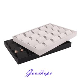 Earring Boxes Sale NZ - Hot sale PU Leather Jewelry Stand Holder Ring Earrings Necklace Pendant Charm Bracelet 20pcs Shelf Plate Jewellery Display Box