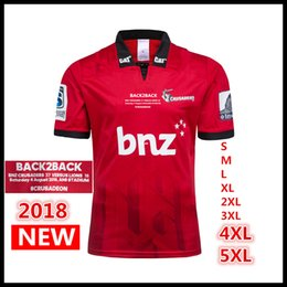 d24c52a3458 crusaders championship winning team 2018 2019 Maillot New Zealand Super  Rugby Jerseys Crusaders home jersey 18 19 Crusaders Shirts S-5XL