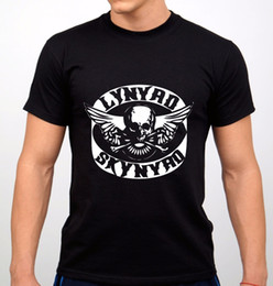6c21960a2 Cheap Graphic T Shirts Lynyad Skynyad Rock Band T-Shirt Black New Men's  Wholesale O-Neck Short-Sleeve Tee Shirts