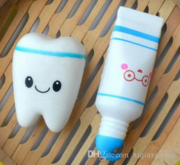 $enCountryForm.capitalKeyWord NZ - Squishy Slow Rising Novelty simulated tooth PU slow rebound toothpaste set decompression toy Squeeze Cute Cell Phone Strap
