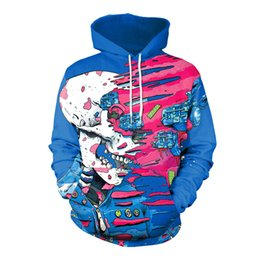 Hoodies & Sweatshirts Humorous 2018 New 347 Galaxy Colorful Graffiti Monkey Printed Women Jacket Hooded Femme Sweatshirt Casual Loose Men Pocket Hoodies Coat