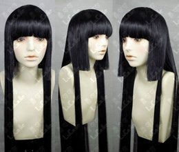 Long Length Hair Styles NZ - Fashion Style Long Black Wig Hair New Cosplay Party Wig 100cm
