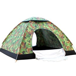 Discount camouflage tents - Outdoor Camouflage Tent Folding Camping Tent Portable Fishing Ultralight Beach Hiking Equipment Rainproof Tents 3-4 Pers